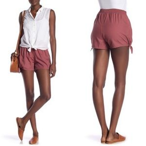 Madewell Side Tie Shorts Autumn Berry Size XS